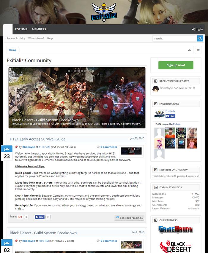 Exitializ Website 2015
